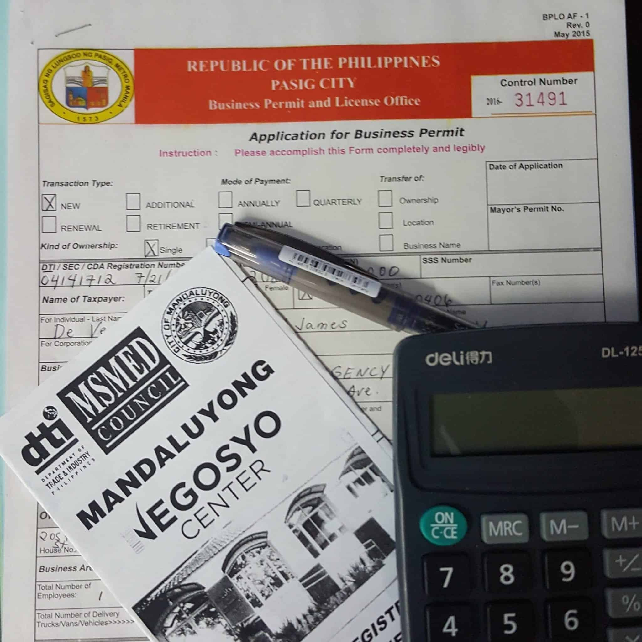 how to get business permits in the philippines